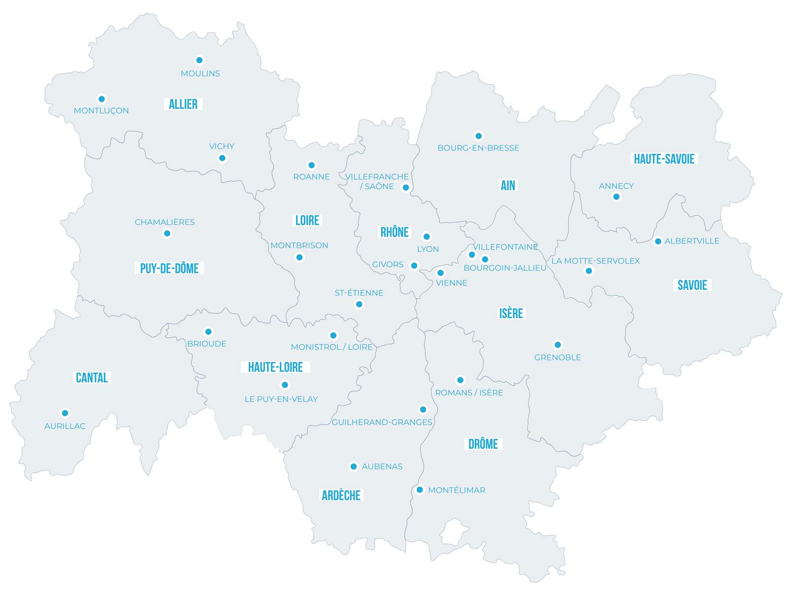 réseau CMA Auvergne-Rhône-Alpes